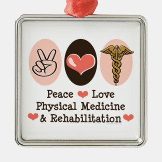 Peace Love PM&R Ornament