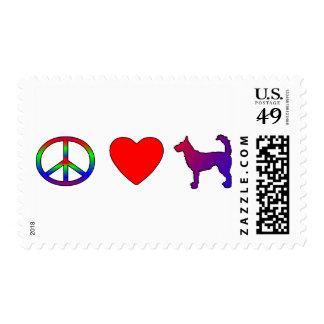 Peace Love Podengos Postage Stamps