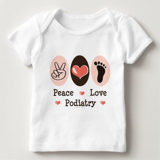 Peace Love Podiatry Infant Long Sleeve Tee Shirt