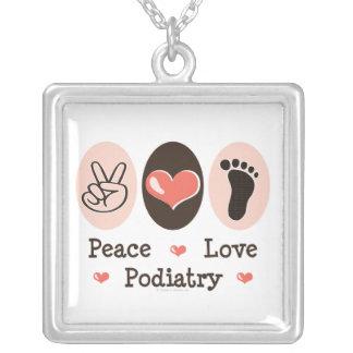 Peace Love Podiatry Podiatrist Necklace