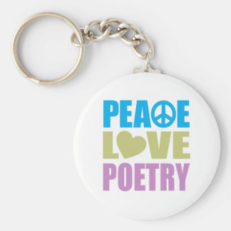 Peace Love Poetry Keychains