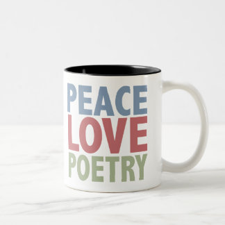 Peace Love Poetry Mugs