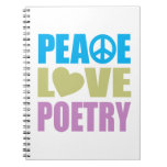 Peace Love Poetry Note Book