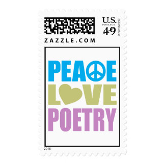 Peace Love Poetry Stamps