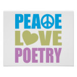 Peace Love Poetry Poster