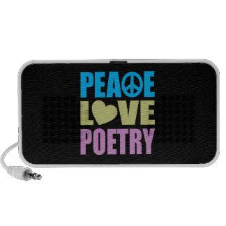 Peace Love Poetry PC Speakers