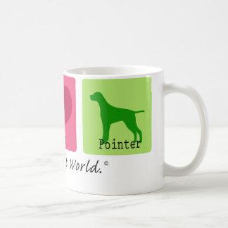 Peace Love Pointer Coffee Mug