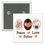 Peace Love Poker Button