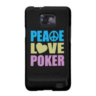 Peace Love Poker Samsung Galaxy S Case