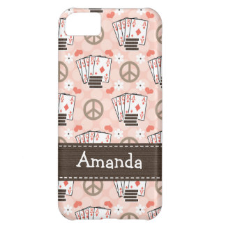 Peace Love Poker iPhone 5C Cover