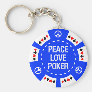 PEACE LOVE POKER CHIP KEYCHAIN