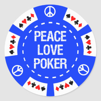 PEACE LOVE POKER CHIP STICKERS