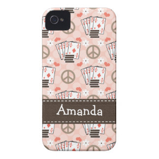 Peace Love Poker iPhone 4 4s Case-Mate Cover