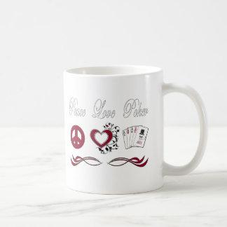 Peace Love Poker Coffee Mugs