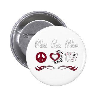 Peace Love Poker Pin