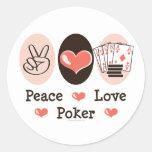 Peace Love Poker Stickers