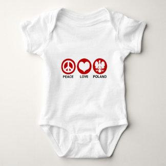 Peace Love Poland Baby Bodysuit