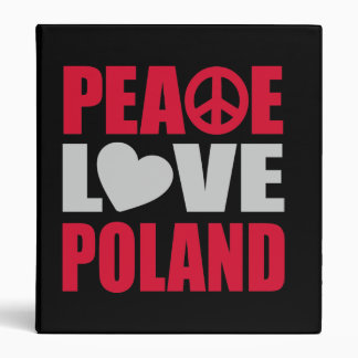 Peace Love Poland Binder