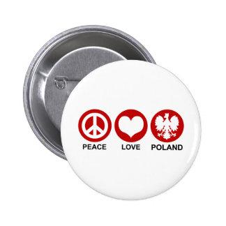 Peace Love Poland Button