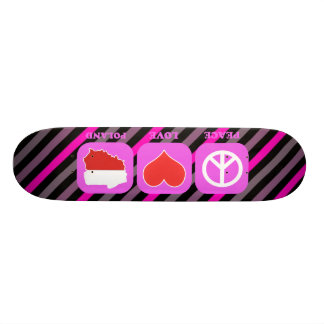 Peace Love Poland Custom Skate Board