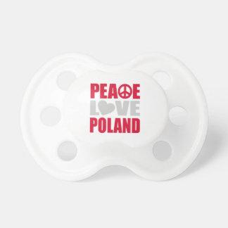 Peace Love Poland BooginHead Pacifier