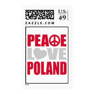 Peace Love Poland Postage Stamp