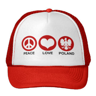 Peace Love Poland Trucker Hat
