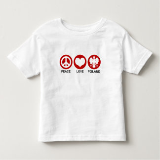 Peace Love Poland T Shirts