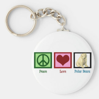 Peace Love Polar Bears Keychain