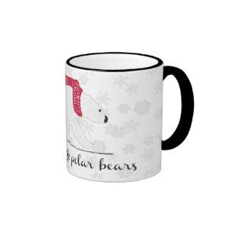 Peace, Love, Polar Bears Mug