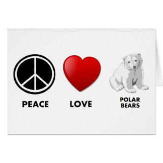 peace love polar bears Save the bears Cards