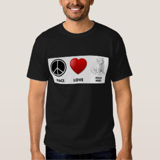 peace love polar bears Save the bears Tee Shirts