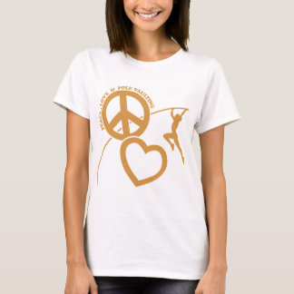 PEACE-LOVE-POLE VAULTING T-Shirt