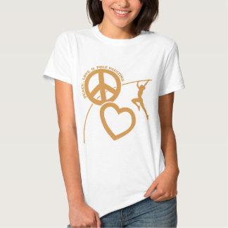 PEACE-LOVE-POLE VAULTING TEE SHIRT