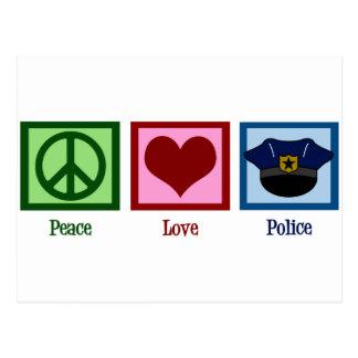 Peace Love Police Postcard