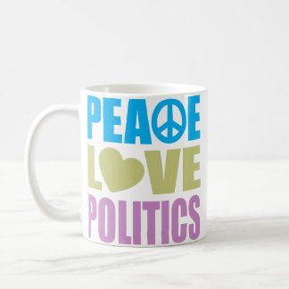 Peace Love Politics Coffee Mugs