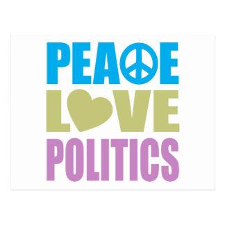 Peace Love Politics Postcard