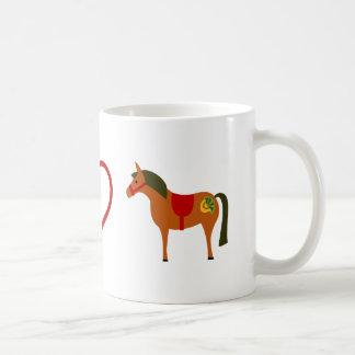 Peace Love Ponies Horse Mug