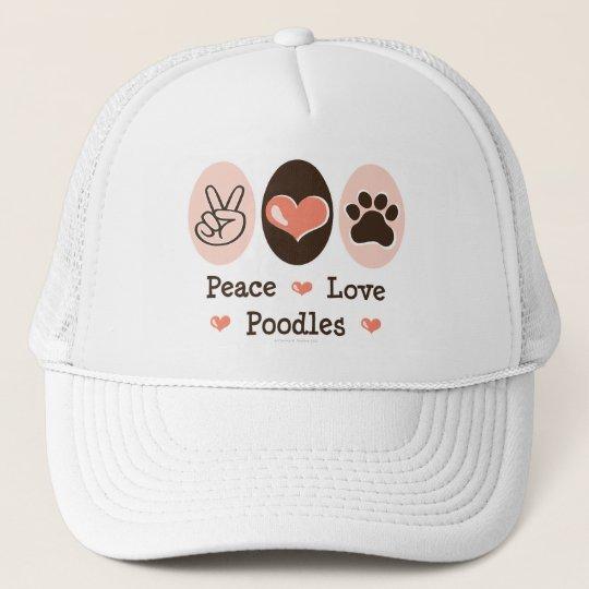 Peace Love Poodles Cap