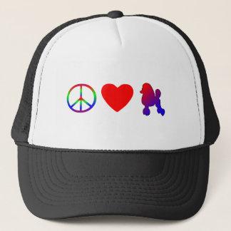 Peace Love Poodles Hat