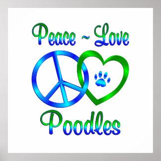 Peace Love Poodles Print