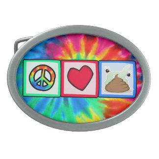 Peace, Love, Poop Belt Buckles