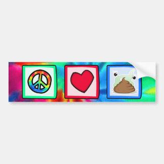 Peace, Love, Poop Bumper Stickers