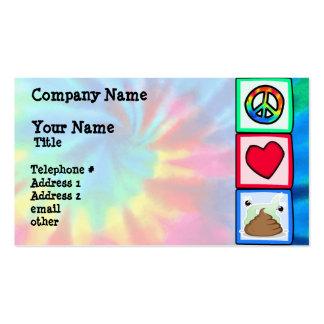Peace, Love, Poop Business Card Templates