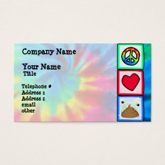 Peace, Love, Poop Business Card