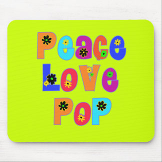 Peace Love Pop Father's Day Gifts Mouse Pads