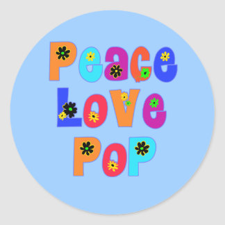 Peace Love Pop Father's Day Gifts Stickers