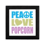 Peace Love Popcorn Jewelry Box