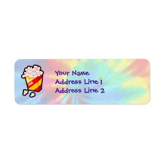 Peace, Love, Popcorn Return Address Labels