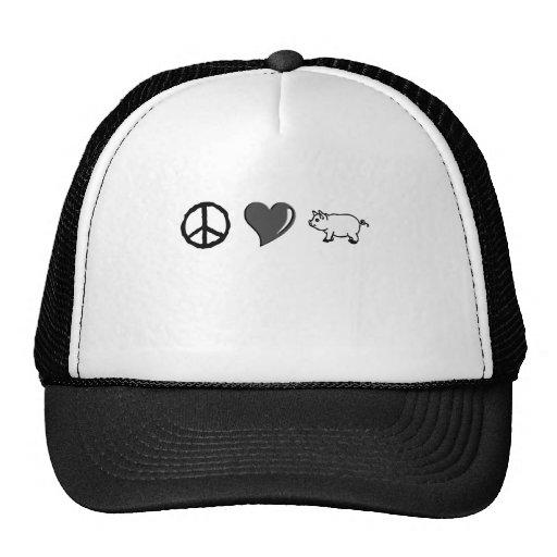 Peace Love Pork Trucker Hat